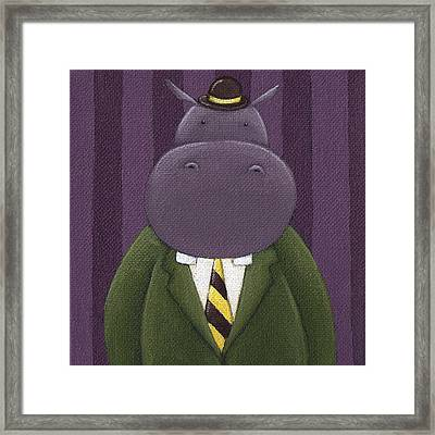 Hippo Nursery Art Framed Print by Christy Beckwith