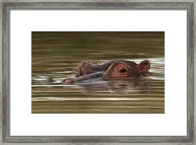 Hippo Painting Framed Print