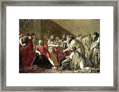 Hippocrates And Artaxerxes Framed Print by Sheila Terry