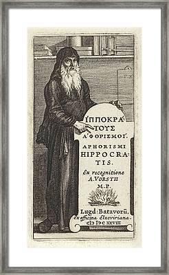 Hippocrates Of Kos, Pieter Serwouters, Bonaventura Elzevier Framed Print