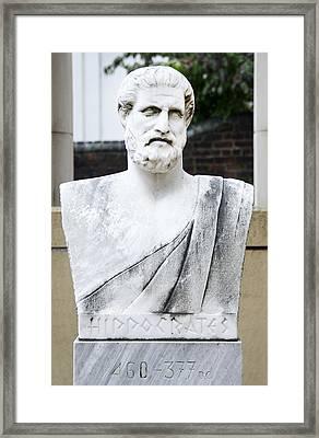 Hippocrates Statue - Vcu Campus Framed Print