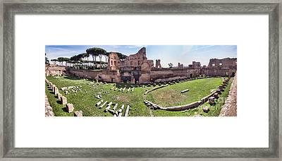 Hippodrome Stadium Of Domitia Palatine Hill Rome Framed Print