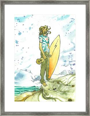 Hippy Surf Framed Print