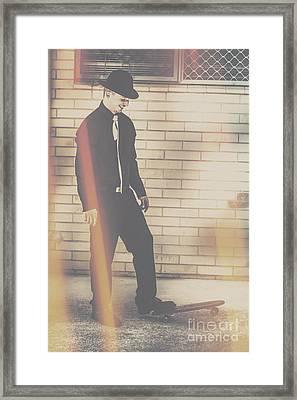 Hipster Trickster Framed Print by Jorgo Photography - Wall Art Gallery