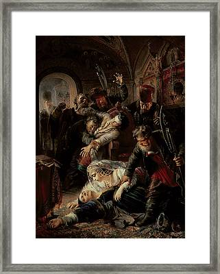 Hired Assassins Killing Tzar Boris Fyodorevich Godunov's Son Framed Print