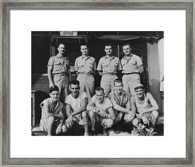 Hiroshima Atomic Bomb Crew On Tinian Framed Print