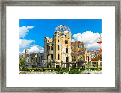 Hiroshima Atomic Bomb Dome - Japan Framed Print by Luciano Mortula