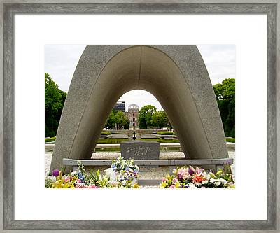 Hiroshima Cenotaph Framed Print by Duomo Photography