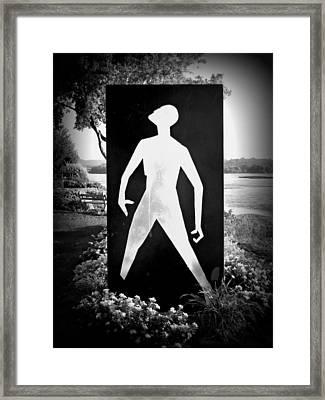 Hiroshima The Unkillable Human - Black And White Framed Print by Joseph Skompski