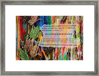 Framed Print featuring the photograph Hiroshima's Promise by Cassandra Buckley