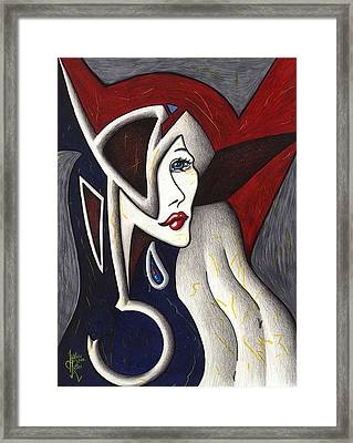 His Absence And Pain's Piercing Presence Framed Print