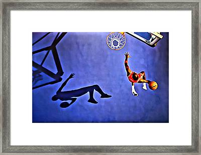 His Airness Michael Jordan Framed Print by Florian Rodarte