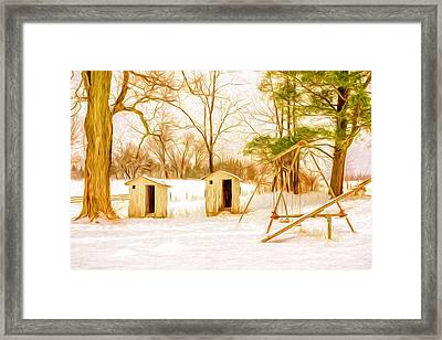 His And Hers - Artistic Framed Print by Chris Bordeleau