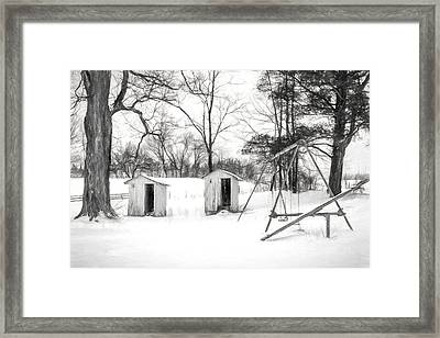 His And Hers - Charcoal  Framed Print by Chris Bordeleau