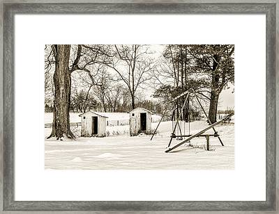 His And Hers Framed Print by Chris Bordeleau