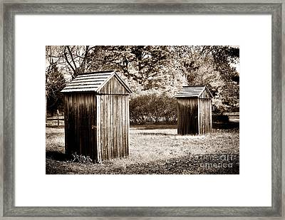 His And Hers Framed Print by John Rizzuto