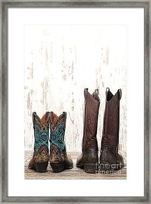 His And Hers Framed Print by Olivier Le Queinec