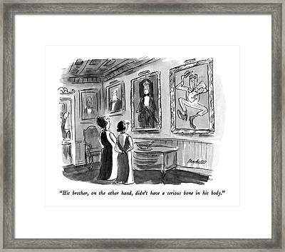 His Brother Framed Print