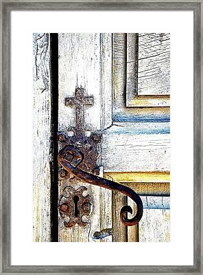 His Door Framed Print