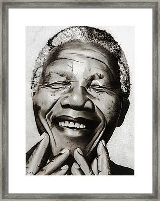 His Excellency Nelson Mandela Framed Print by Brian Broadway