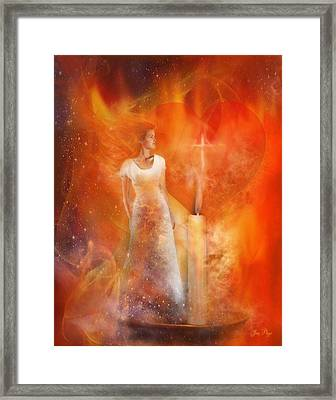 His Flame Framed Print