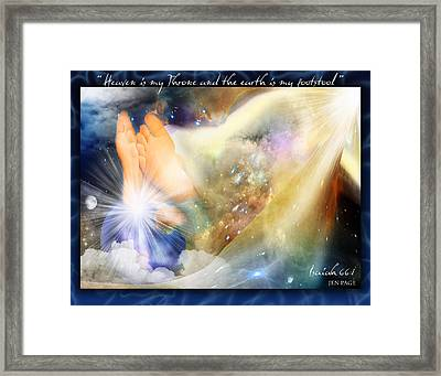 His Footstool Framed Print by Jennifer Page