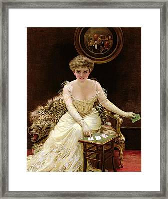 His Fortune Framed Print by English School