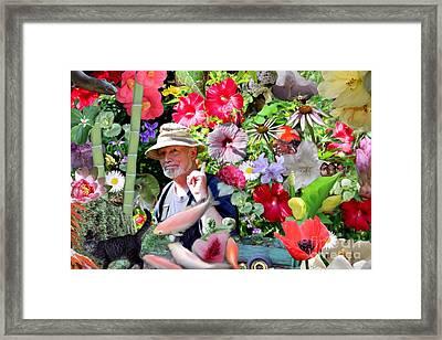His Garden Framed Print by Erica Hanel
