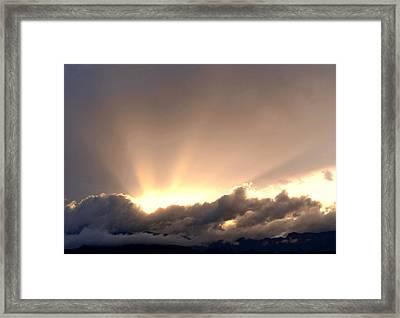 His Glory Framed Print by Dietmar Scherf