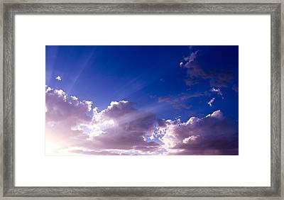 His Glory Framed Print by Kume Bryant