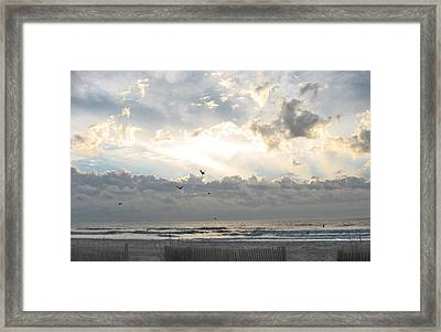 His Glory Shines Framed Print