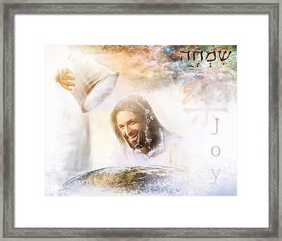 His Joy Framed Print by Jennifer Page
