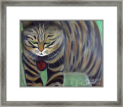 His Lordship Monty Framed Print by Jolanta Anna Karolska