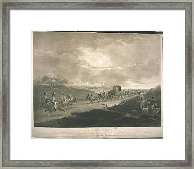 His Majesty In His Travelling Chariot Framed Print by British Library