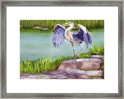 His Majesty Framed Print by Joan A Hamilton