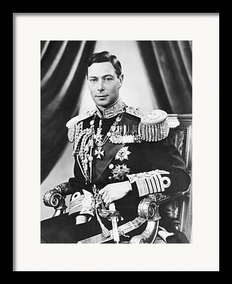 King George Vi Framed Prints