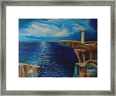 His Masterpiece Framed Print