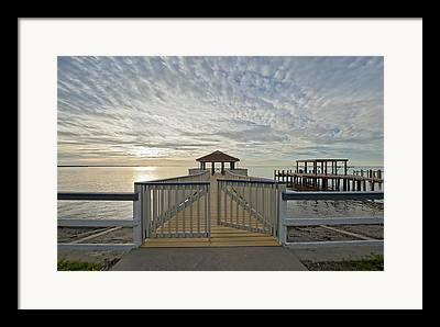Cypremort Point Pier Framed Prints