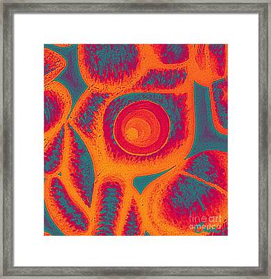 His Navel Flames Framed Print by Feile Case