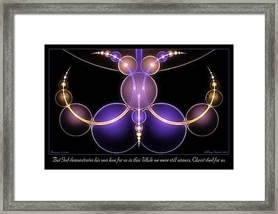 His Own Love Framed Print