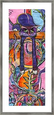 His Own World Framed Print by Leela Payne