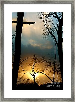 His Passion Framed Print by Jay Nodianos