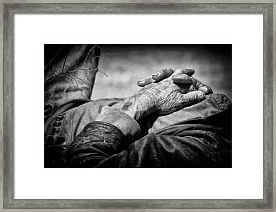His Story Framed Print