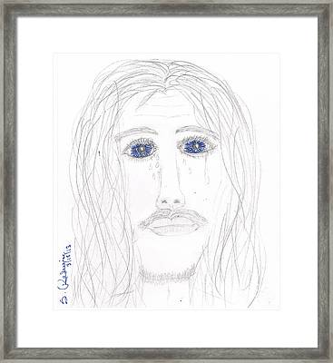 His Tears Framed Print by Shannon Redwine