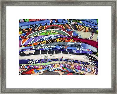 His Tshirt Collection Framed Print by Janice Rae Pariza