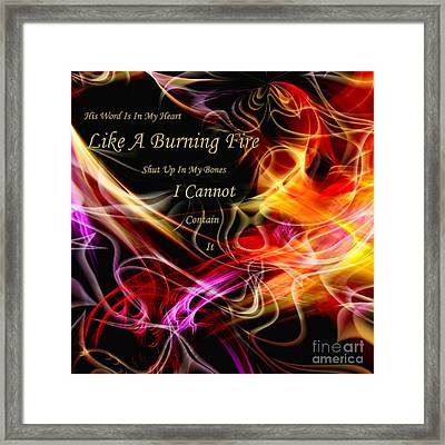 His Word In My Heart Framed Print