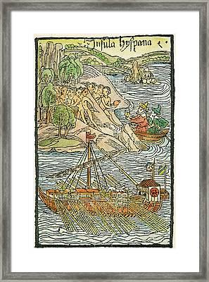 Hispaniola Trading, 1493 Framed Print