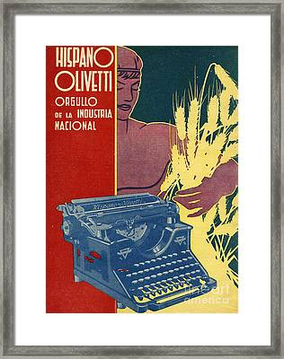 Hispano Olivetti 1936 1930s Spain Cc Framed Print by The Advertising Archives