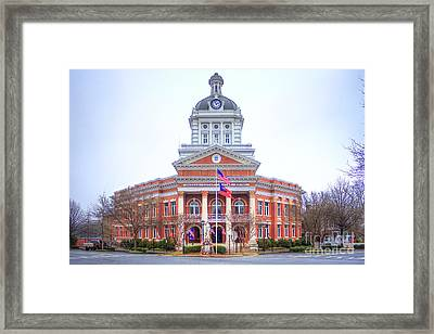 Historic Morgan County Court House Morgan County Georgia Framed Print