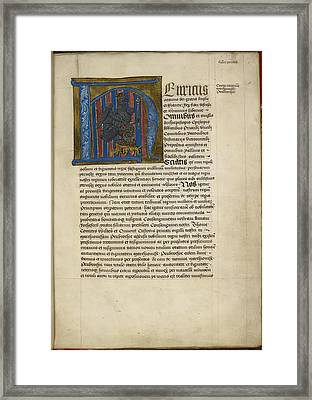 Historiated Initial 'h' Framed Print